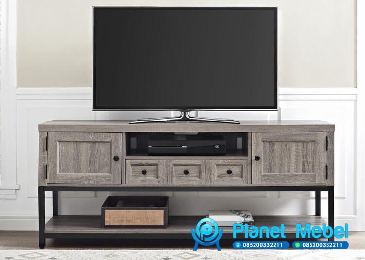 Bufet Tv Minimalis Kaki Besi, Bufet Tv Industrial Furniture, Jual Bufet Tv Besi, Bufet Tv Minimalis Industrial, Bufet Tv Modern Industrial