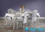 Meja Makan Klasik Modern Putih