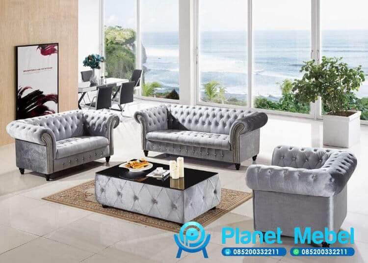 Sofa Tamu Minimalis Chesterfield Grey, Kursi Tamu Sofa Chesterfield, Kursi Tamu Chesterfield, Sofa Tamu Chesterfield, Kursi Tamu Sofa, Kursi Tamu Sofa Minimalis