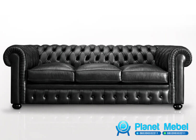 Sofa Chesterfield Murah Tiga Dudukan, Sofa Chesterfield Murah, Sofa Chesterfield Original