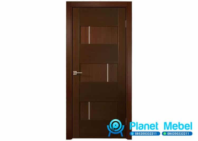 Pintu Minimalis Modern Kayu Jati Jepara