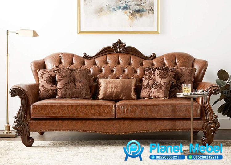 Sofa Tamu Jati Mewah Welton Klasik Eropa