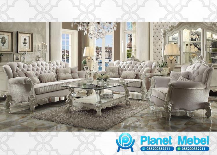 Sofa Tamu Mewah Model Welton Klasik Modern Terbaru