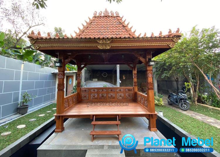 Gazebo Taman Ukiran Jepara Jawa Kayu Jati Terbaru