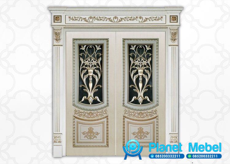 Pintu Kupu Tarung Klasik, Pintu Utama Mewah, Pintu Rumah Utama Klasik Mewah