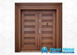 Pintu Kupu Tarung Minimalis Ukir Jati