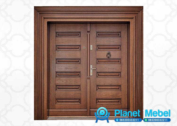 Pintu Kupu Tarung Minimalis Kayu Jati, Pintu Rumah Minimalis, Pintu Kayu Jati, Pintu Utama
