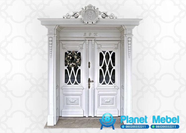 Pintu Kupu Tarung Ukir Klasik Mewah Terbaru